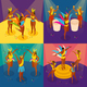 Brazilian Carnival Concept Icons Set - GraphicRiver Item for Sale
