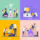 Science Lab Flat Design Concept