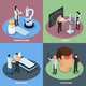 Tuberculosis Prevention Concept Icons Set
