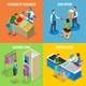 Shopping People Isometric Design Concept - GraphicRiver Item for Sale