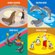 Sea Circus 2x2 Isometric Design Concept - GraphicRiver Item for Sale