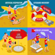 Beach Lifeguards 2x2 Design Concept - GraphicRiver Item for Sale