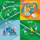 Football 2x2 Isometric Design Concept - GraphicRiver Item for Sale