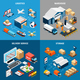 Logistics 2x2 Isometric Concept - GraphicRiver Item for Sale