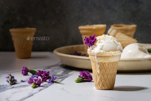 Vanilla ice cream - Stock Photo - Images
