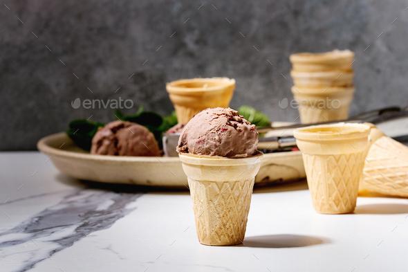 Chocolate ice cream - Stock Photo - Images