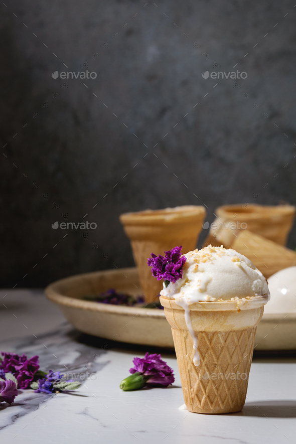 Vanilla ice cream - Stock Photo - Images