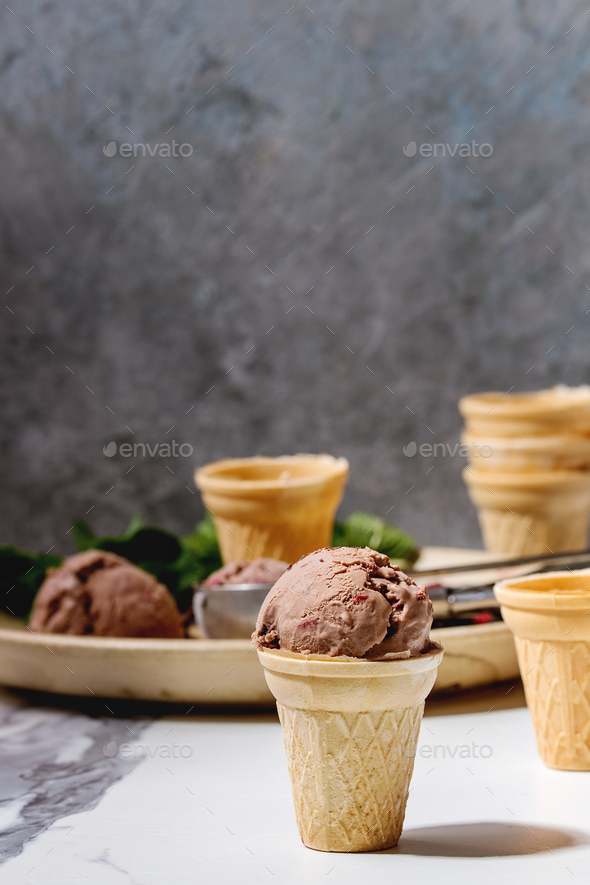 Chocolate ice cream - Stock Photo - Images