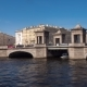 The Lomonosov Bridge on The Fontanka River. St. Petersburg, Russia - VideoHive Item for Sale