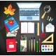 Vector Set of Office and Education Supplies - GraphicRiver Item for Sale