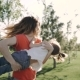 Mother with Her Little Daughter Play Outdoor in the Park - VideoHive Item for Sale