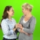 Native Hugs, They Are Stand and Talking. Green Screen - VideoHive Item for Sale