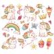 Magic Unicorn Cats in Crown, Sweet Cupcakes, Ice