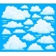 White Cloud Symbol for Cloudscape Background