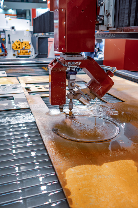CNC water jet cutting machine - Stock Photo - Images