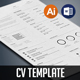 Minimalist CV Template - GraphicRiver Item for Sale