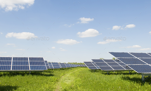 solar plant - Stock Photo - Images