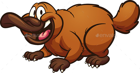 Cartoon Platypus - Animals Characters