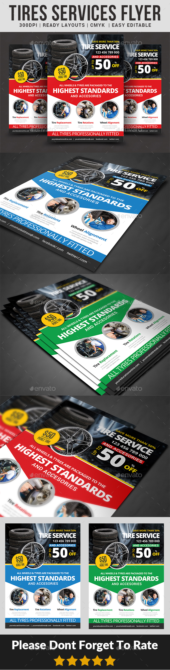 Tires Services Flyer - Commerce Flyers