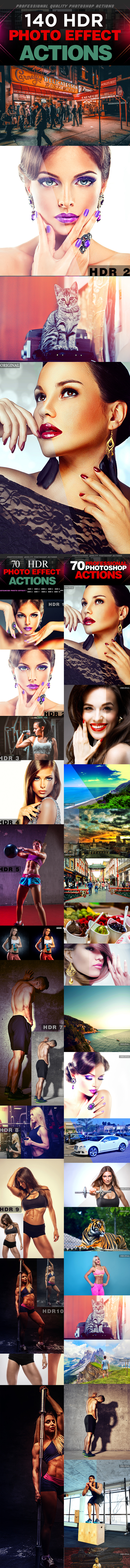 140 HDR Actions Set Bundle - Photo Effects Actions