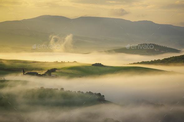 Morning fog - Stock Photo - Images