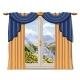 The Window Overlooking the Sunny Meadow of Green - GraphicRiver Item for Sale