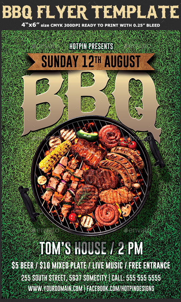Barbecue Bbq Flyer Template By Hotpin Graphicriver
