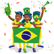 Brazil Football Fans - GraphicRiver Item for Sale