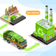 Recycling Plant and Waste Truck - GraphicRiver Item for Sale