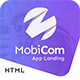 MobiCom - Mobile App Landing Pages Pack - ThemeForest Item for Sale