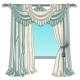 The Ornate Curtain in the Interior - GraphicRiver Item for Sale