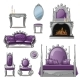 Set of Furniture and Accessories for Living Room - GraphicRiver Item for Sale
