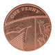 Coin of one penny on white background - PhotoDune Item for Sale