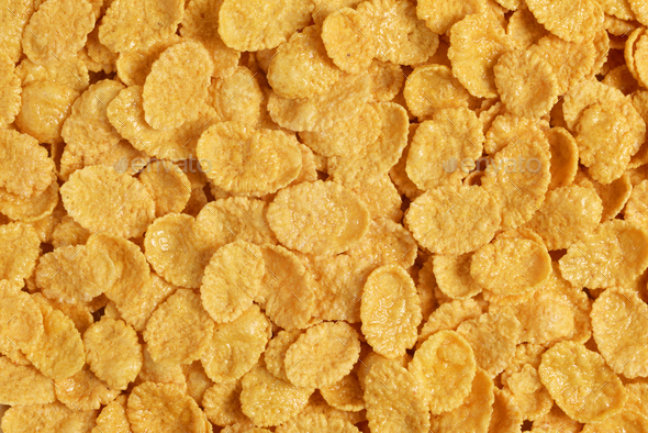 Corn flakes background - Stock Photo - Images