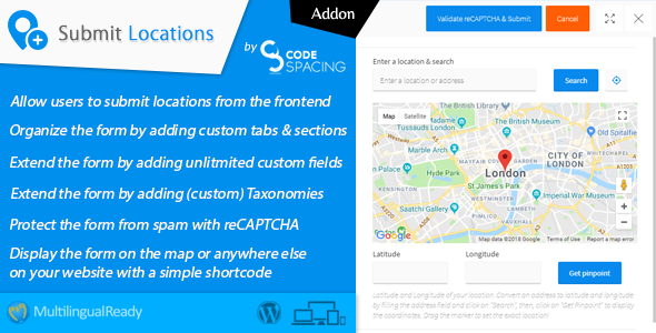 Progress Map, Submit Locations - WordPress Plugin            Nulled