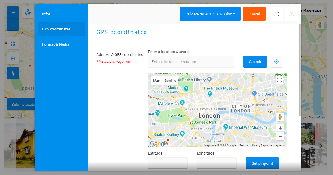 Progress Map, Submit Locations - WordPress Plugin
