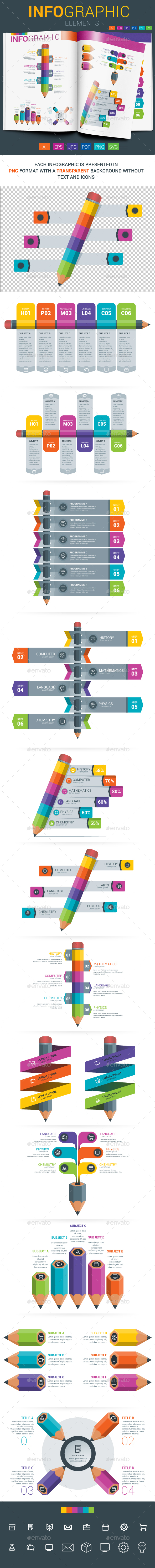 Infographic Elements - Education - Infographics