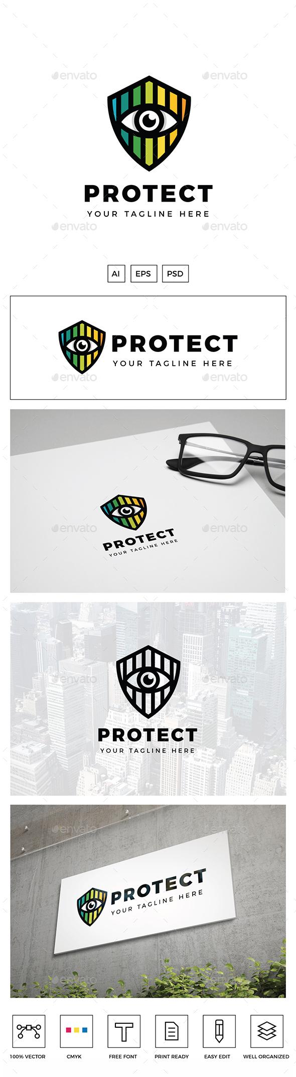 Eye Shield Logo - Objects Logo Templates