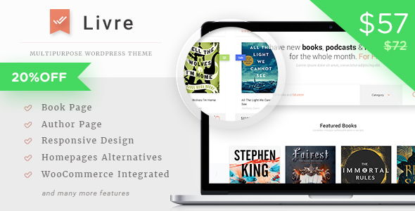 Livre - WooCommerce Theme For Book Store by tokomoo | ThemeForest