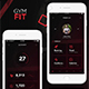 GymFit - Mobile App UI Kit Design - GraphicRiver Item for Sale