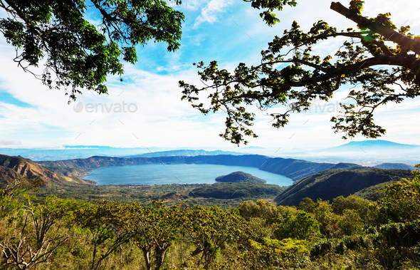 Lake in El Salvador - Stock Photo - Images