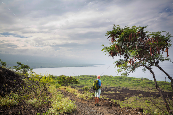 Hike in Hawaii - Stock Photo - Images