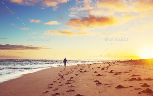 Hawaiian beach - Stock Photo - Images