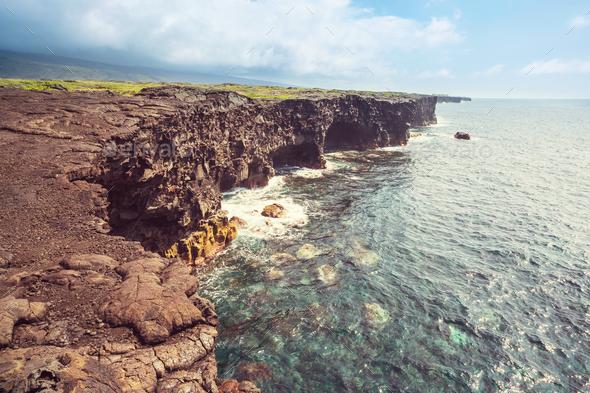 Hawaiian coast - Stock Photo - Images