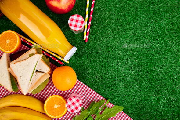 Picnic on the grass. - Stock Photo - Images