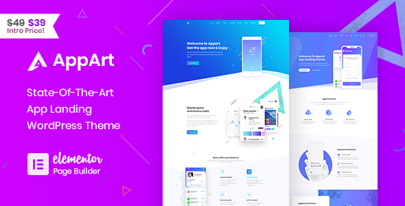 AppArt - Creative App Landing WordPress Theme - Technology WordPress