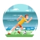 Soccer Football Player Running Character Stadium - GraphicRiver Item for Sale