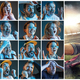 Collage about emotions of football fans watching soccer on tv - PhotoDune Item for Sale
