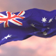 Flag of Australia Waving at Sunset - VideoHive Item for Sale