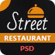 Street Restaurant PSD Template - ThemeForest Item for Sale